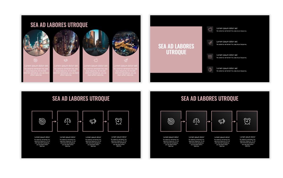 OSLO - Minimal - Dark Pale Pink - Business - Professional - Aesthetic - Clean - Minimal Slide15