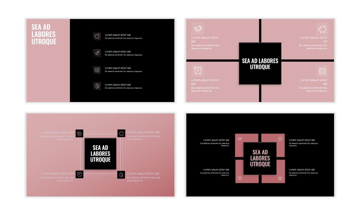 OSLO - Minimal - Dark Pale Pink - Business - Professional - Aesthetic - Clean - Minimal Slide16