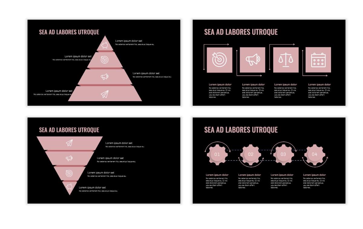 OSLO - Minimal - Dark Pale Pink - Business - Professional - Aesthetic - Clean - Minimal Slide17