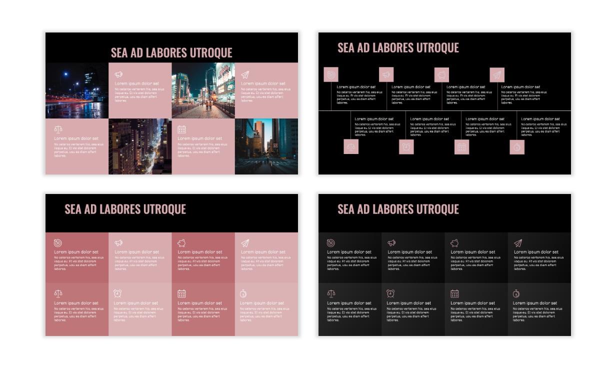 OSLO - Minimal - Dark Pale Pink - Business - Professional - Aesthetic - Clean - Minimal Slide19