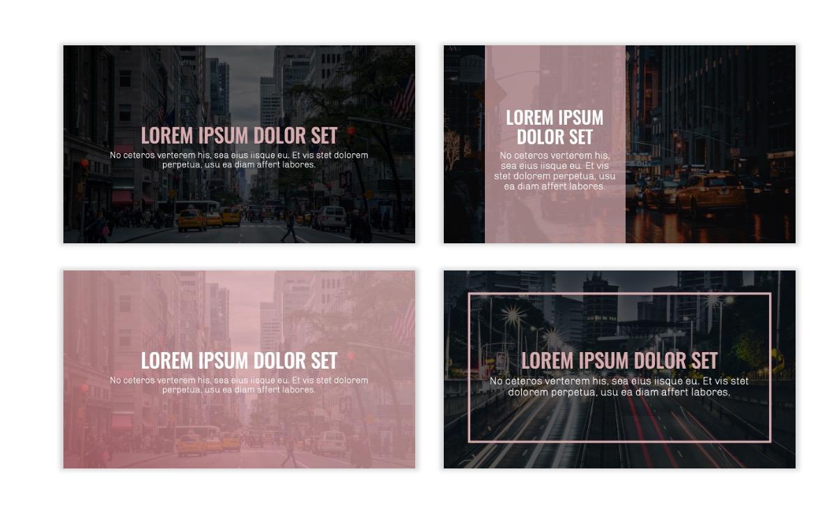 OSLO - Minimal - Dark Pale Pink - Business - Professional - Aesthetic - Clean - Minimal Slide2