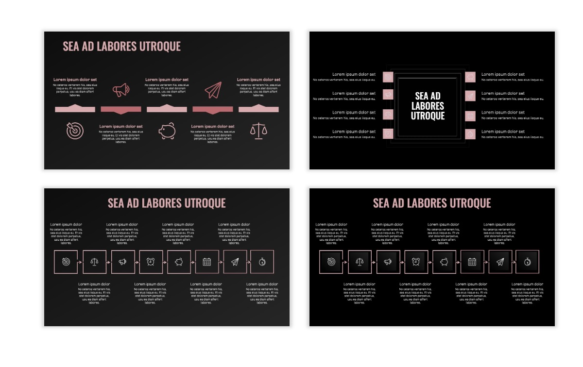 OSLO - Minimal - Dark Pale Pink - Business - Professional - Aesthetic - Clean - Minimal Slide20