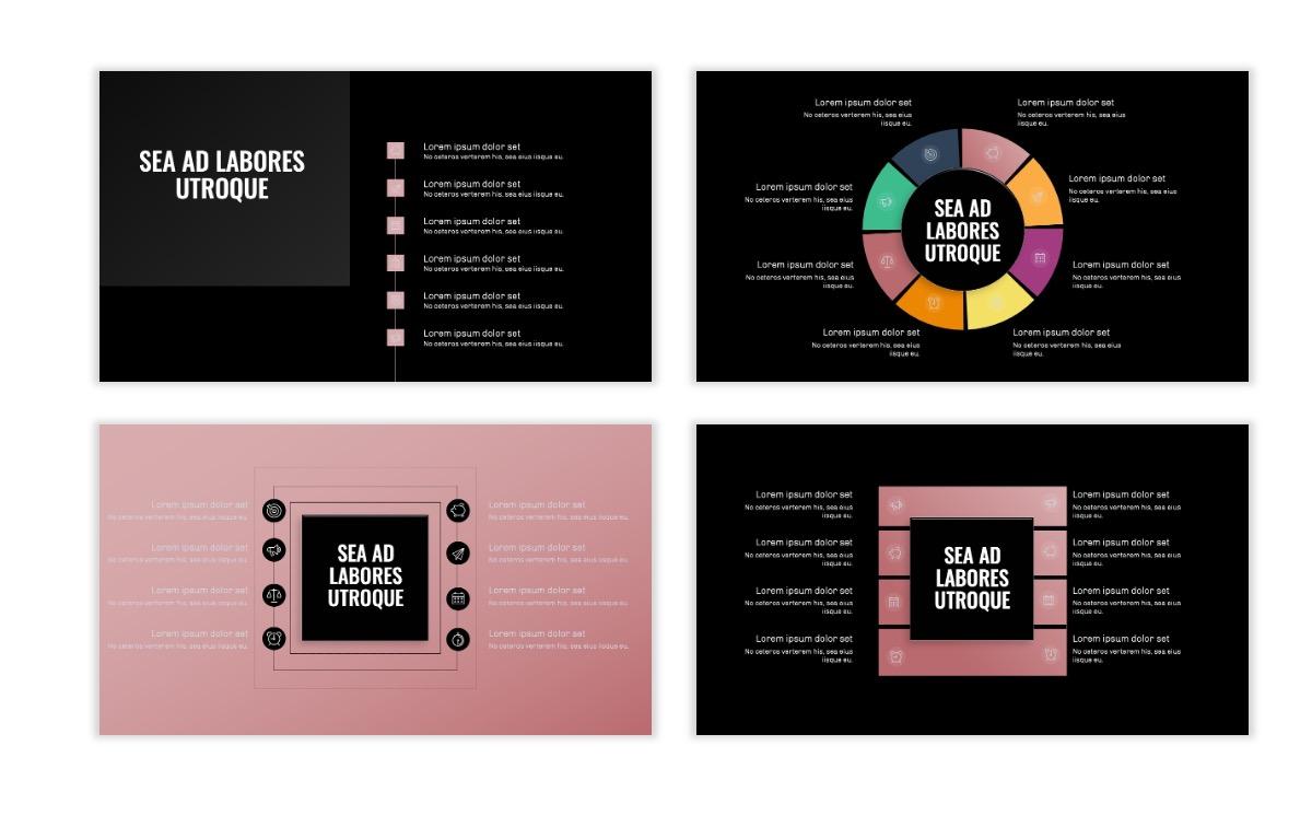 OSLO - Minimal - Dark Pale Pink - Business - Professional - Aesthetic - Clean - Minimal Slide21