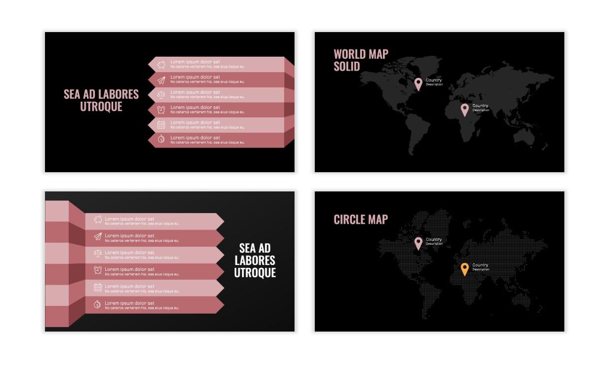 OSLO - Minimal - Dark Pale Pink - Business - Professional - Aesthetic - Clean - Minimal Slide23
