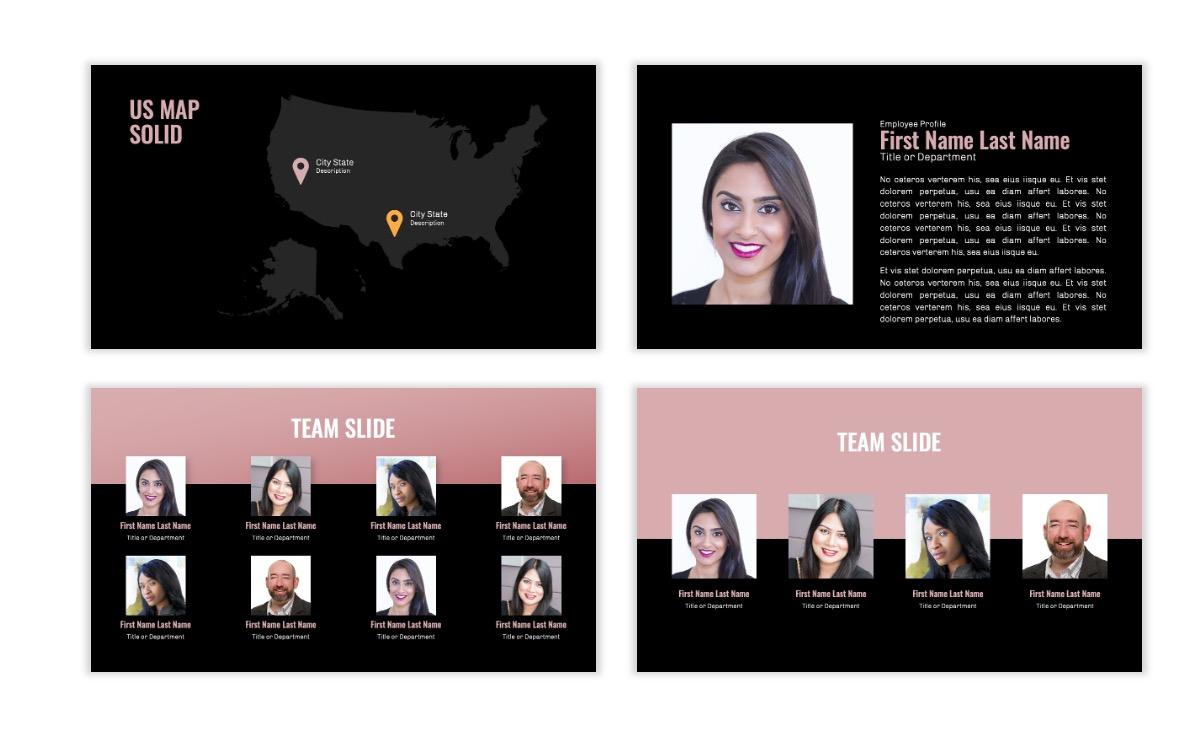 OSLO - Minimal - Dark Pale Pink - Business - Professional - Aesthetic - Clean - Minimal Slide24