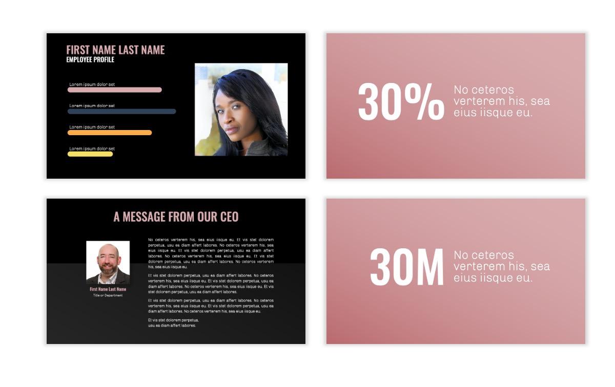 OSLO - Minimal - Dark Pale Pink - Business - Professional - Aesthetic - Clean - Minimal Slide25