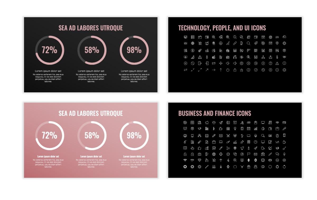 OSLO - Minimal - Dark Pale Pink - Business - Professional - Aesthetic - Clean - Minimal Slide26
