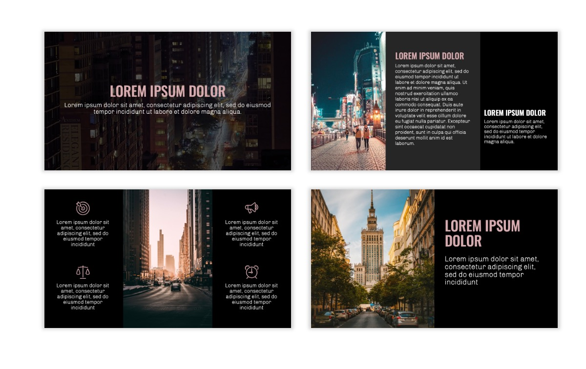 OSLO - Minimal - Dark Pale Pink - Business - Professional - Aesthetic - Clean - Minimal Slide3