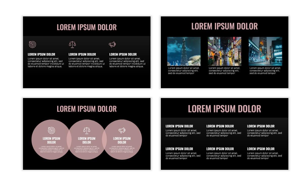OSLO - Minimal - Dark Pale Pink - Business - Professional - Aesthetic - Clean - Minimal Slide4
