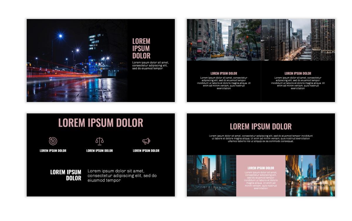OSLO - Minimal - Dark Pale Pink - Business - Professional - Aesthetic - Clean - Minimal Slide6