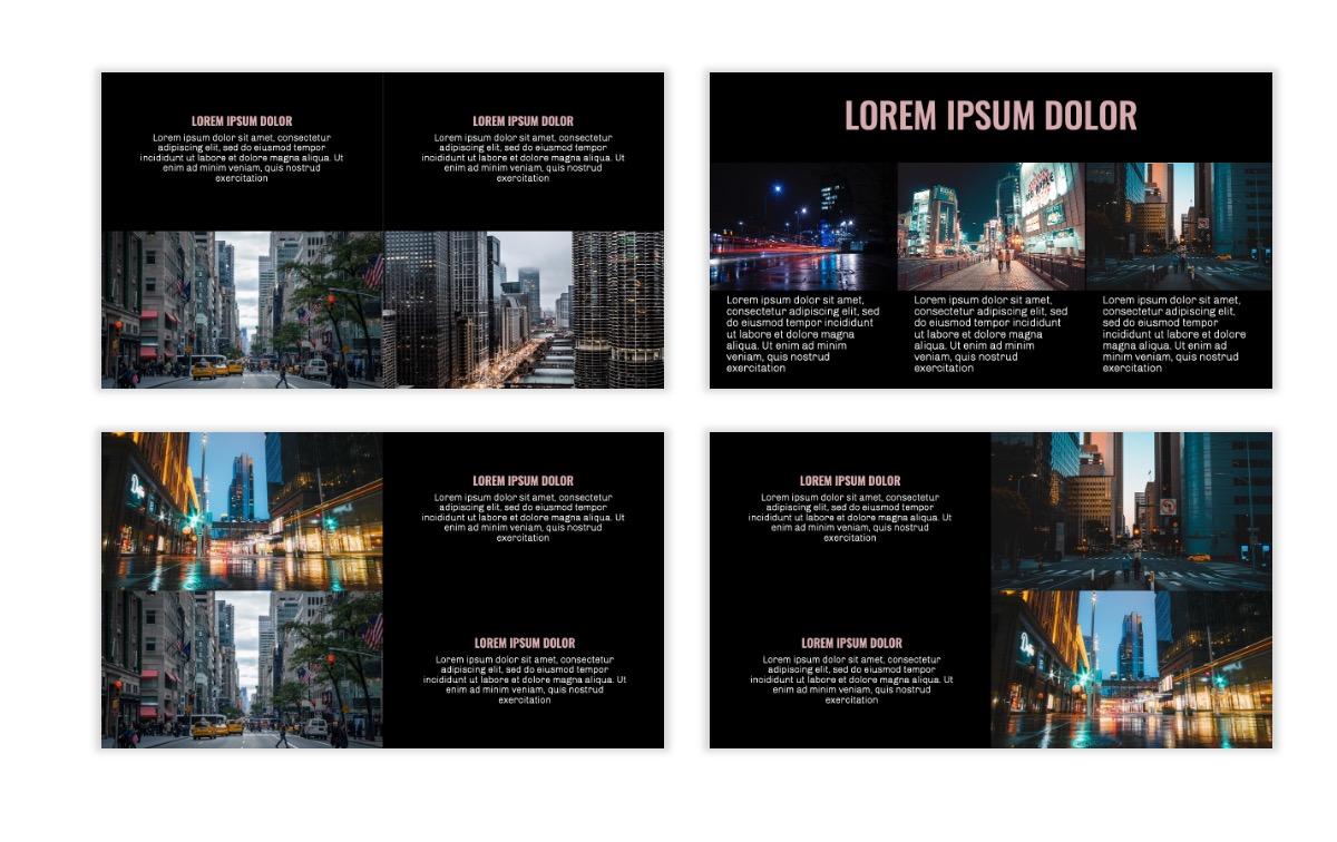 OSLO - Minimal - Dark Pale Pink - Business - Professional - Aesthetic - Clean - Minimal Slide7
