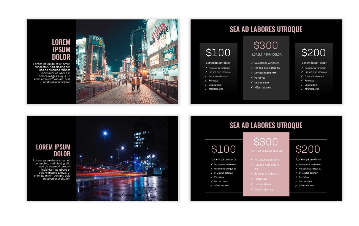 OSLO - Minimal - Dark Pale Pink - Business - Professional - Aesthetic - Clean - Minimal Slide8