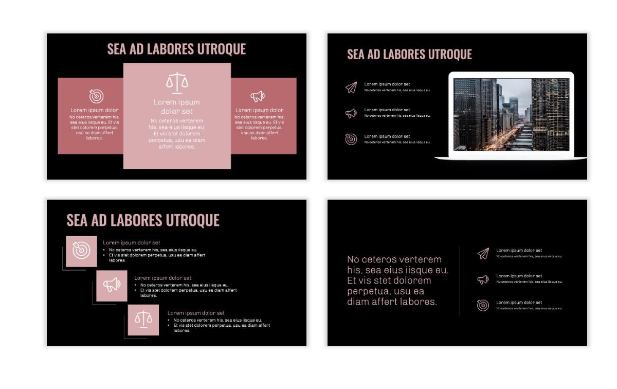 OSLO - Minimal - Dark Pale Pink - Business - Professional - Aesthetic - Clean - Minimal Slide9