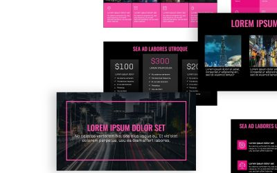 OSLO PROFESSIONAL DARK PINK FREE POWERPOINT TEMPLATE