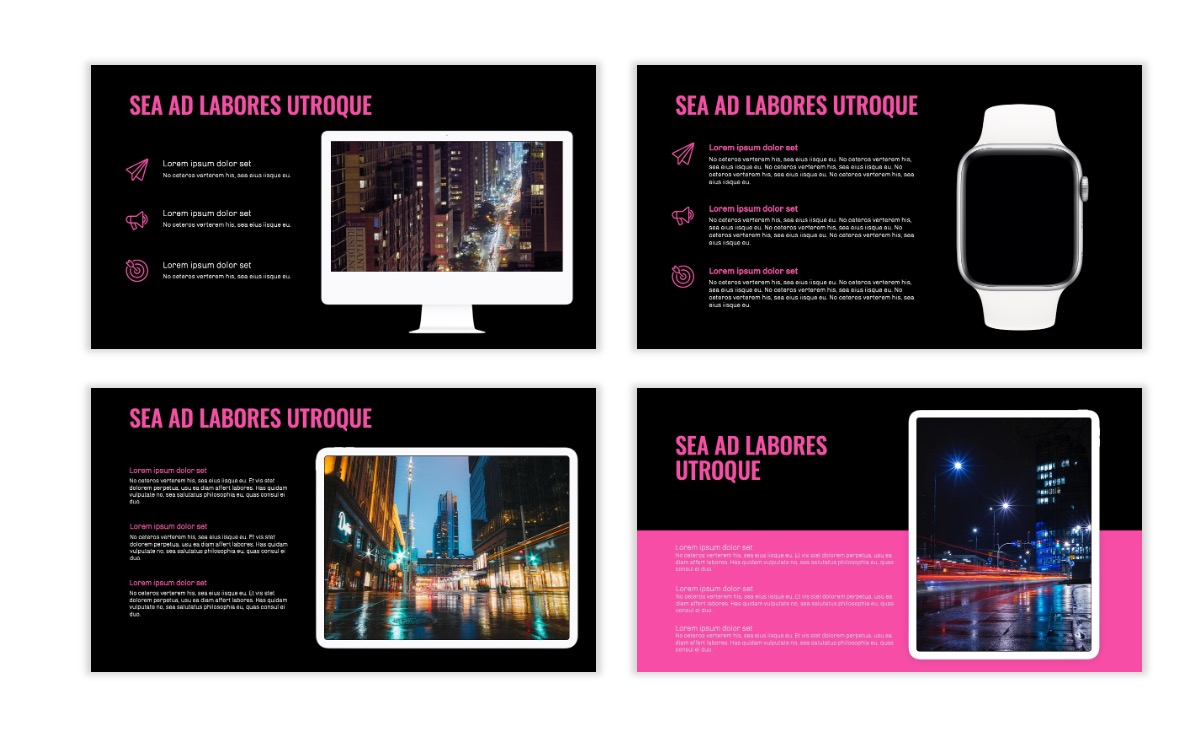 OSLO - Minimal - Dark Pink - Business - Professional - Aesthetic - Clean - Minimal Slide10