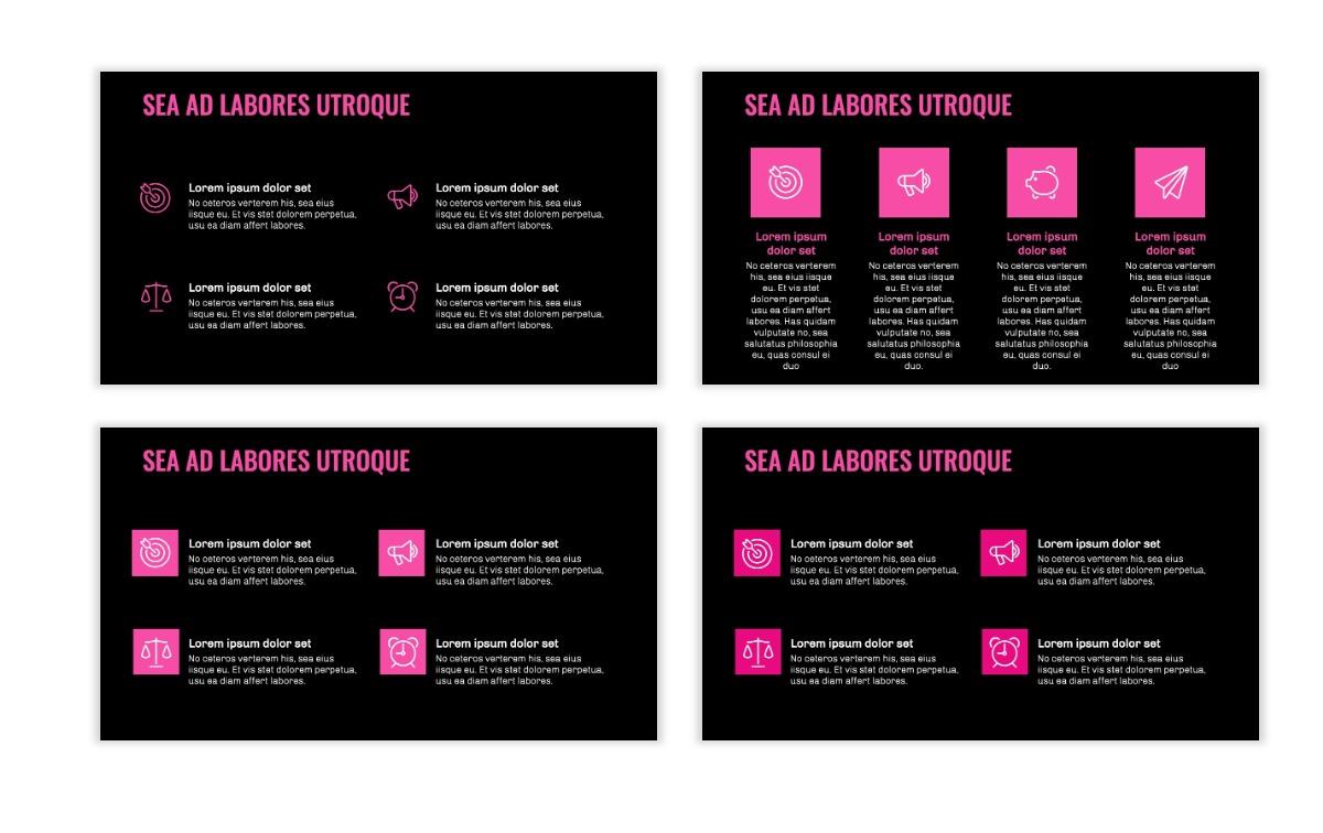 OSLO - Minimal - Dark Pink - Business - Professional - Aesthetic - Clean - Minimal Slide11