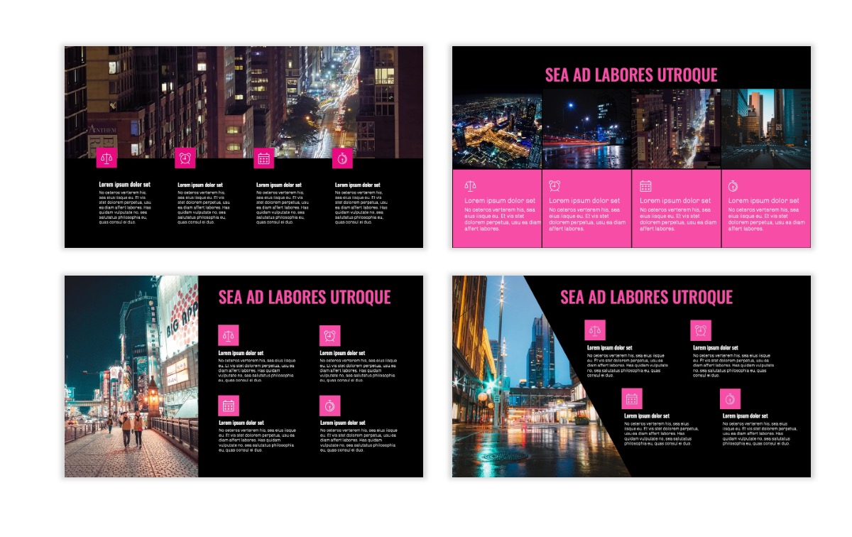 OSLO - Minimal - Dark Pink - Business - Professional - Aesthetic - Clean - Minimal Slide14