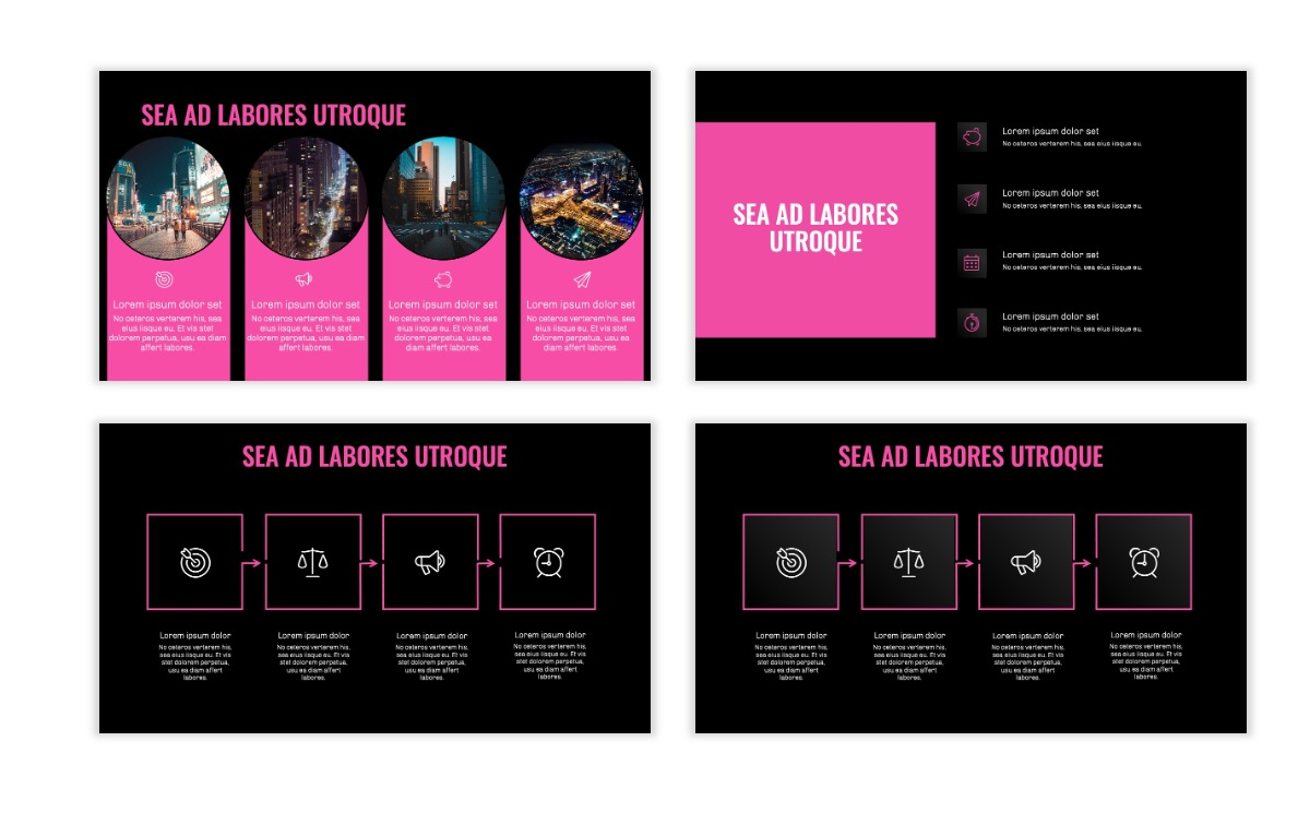 OSLO - Minimal - Dark Pink - Business - Professional - Aesthetic - Clean - Minimal Slide15