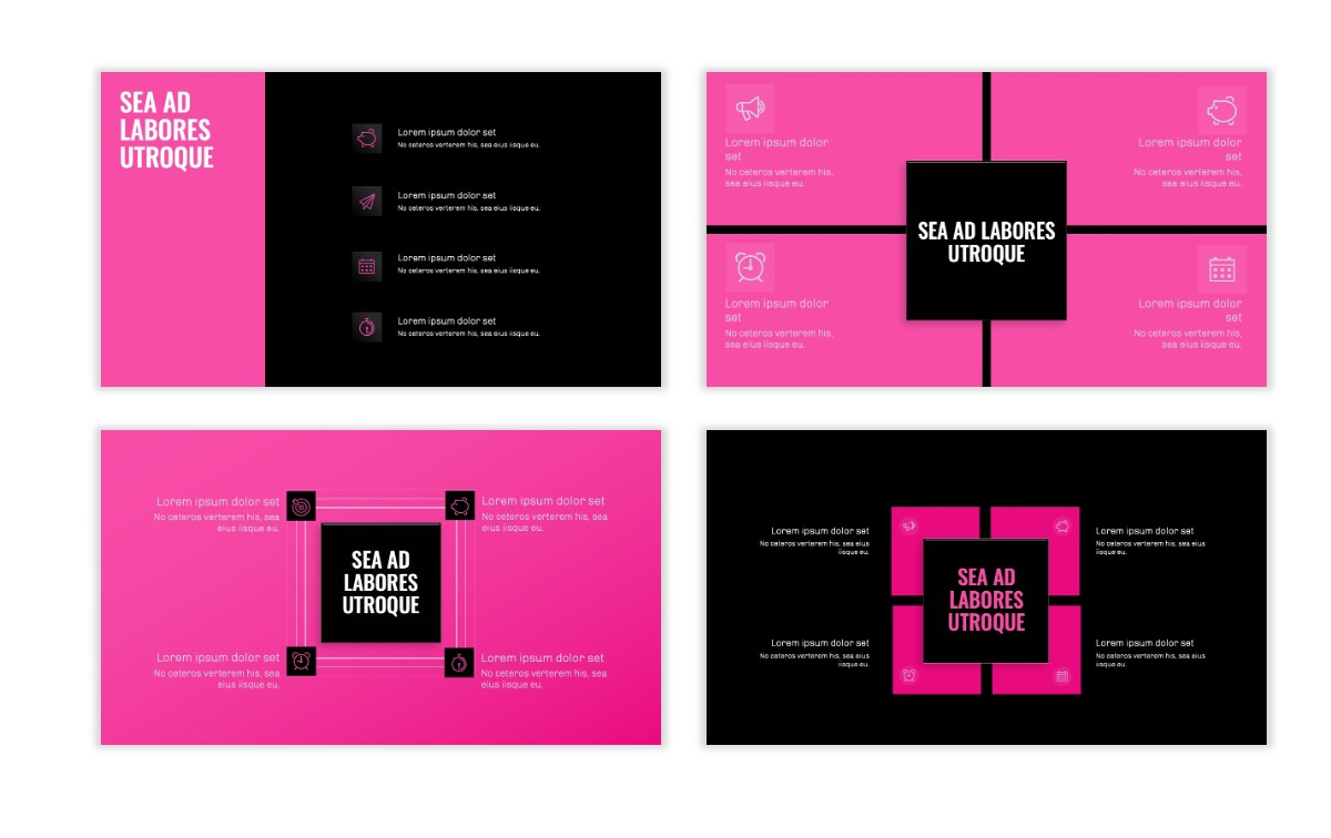 OSLO - Minimal - Dark Pink - Business - Professional - Aesthetic - Clean - Minimal Slide16