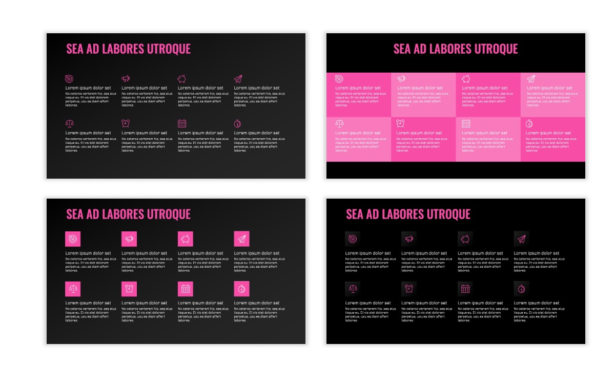 OSLO - Minimal - Dark Pink - Business - Professional - Aesthetic - Clean - Minimal Slide18