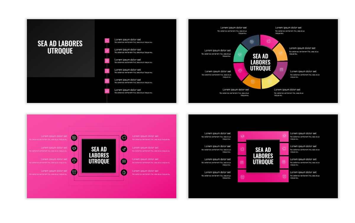 OSLO - Minimal - Dark Pink - Business - Professional - Aesthetic - Clean - Minimal Slide21