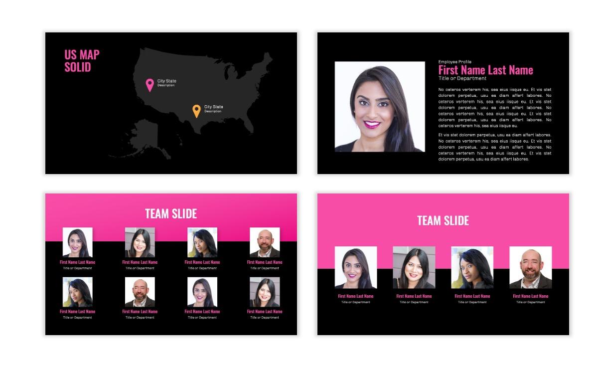 OSLO - Minimal - Dark Pink - Business - Professional - Aesthetic - Clean - Minimal Slide24
