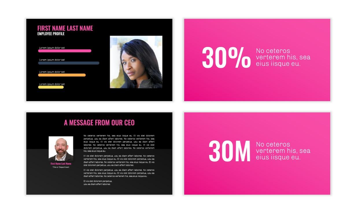 OSLO - Minimal - Dark Pink - Business - Professional - Aesthetic - Clean - Minimal Slide25