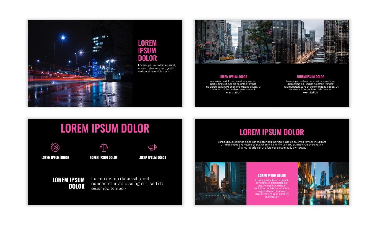 OSLO - Minimal - Dark Pink - Business - Professional - Aesthetic - Clean - Minimal Slide6