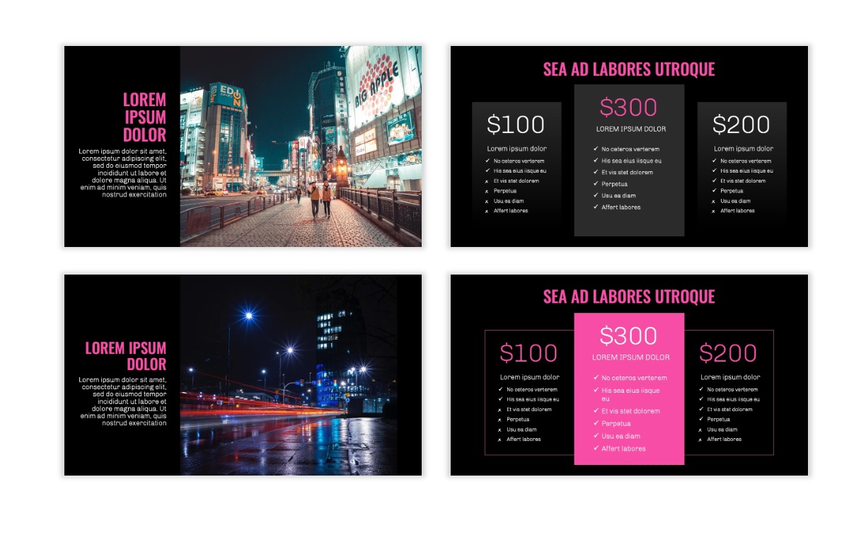 OSLO - Minimal - Dark Pink - Business - Professional - Aesthetic - Clean - Minimal Slide8