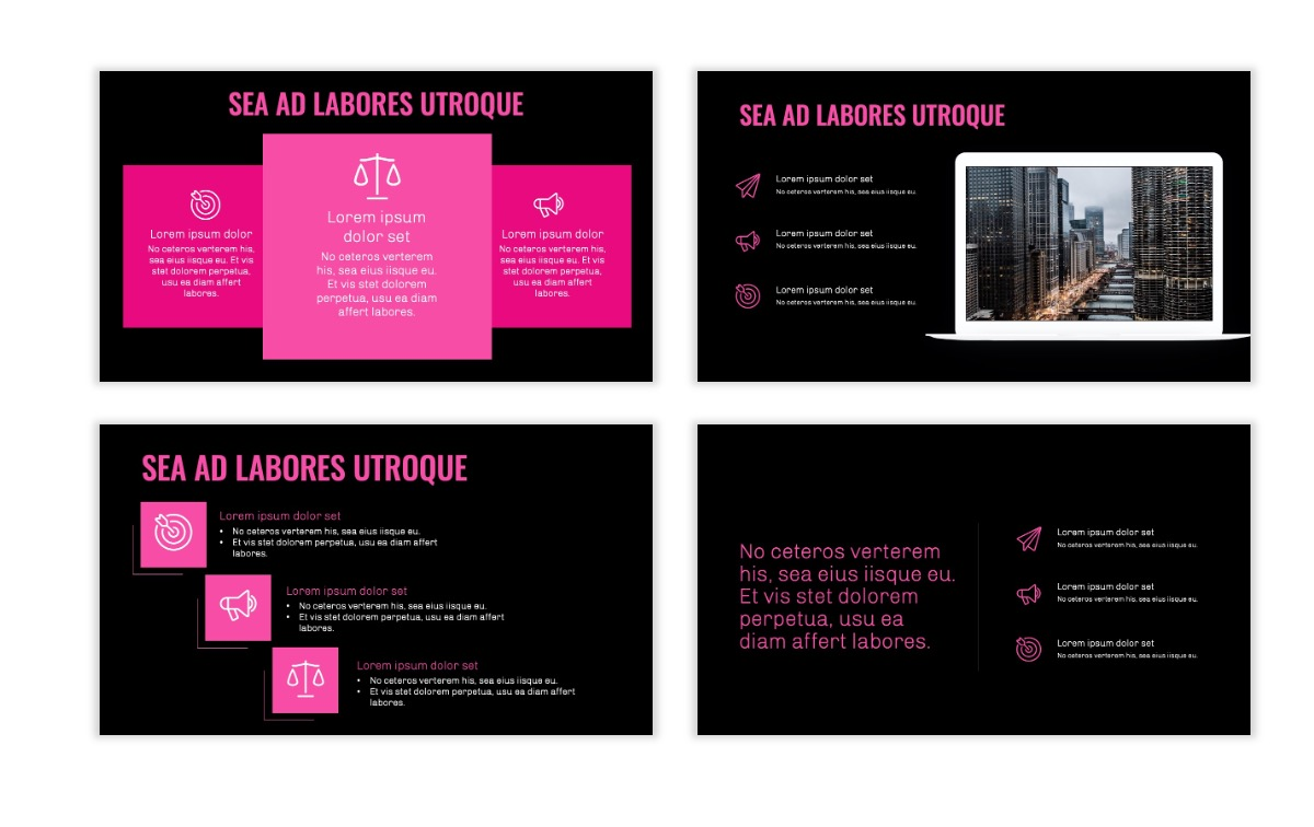 OSLO - Minimal - Dark Pink - Business - Professional - Aesthetic - Clean - Minimal Slide9