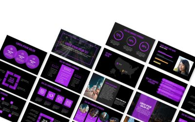 OSLO PROFESSIONAL DARK PURPLE FREE POWERPOINT TEMPLATE