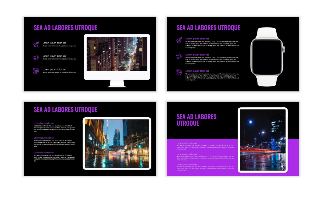 OSLO - Minimal - Dark Purple - Business - Professional - Aesthetic - Clean - Minimal Slide10