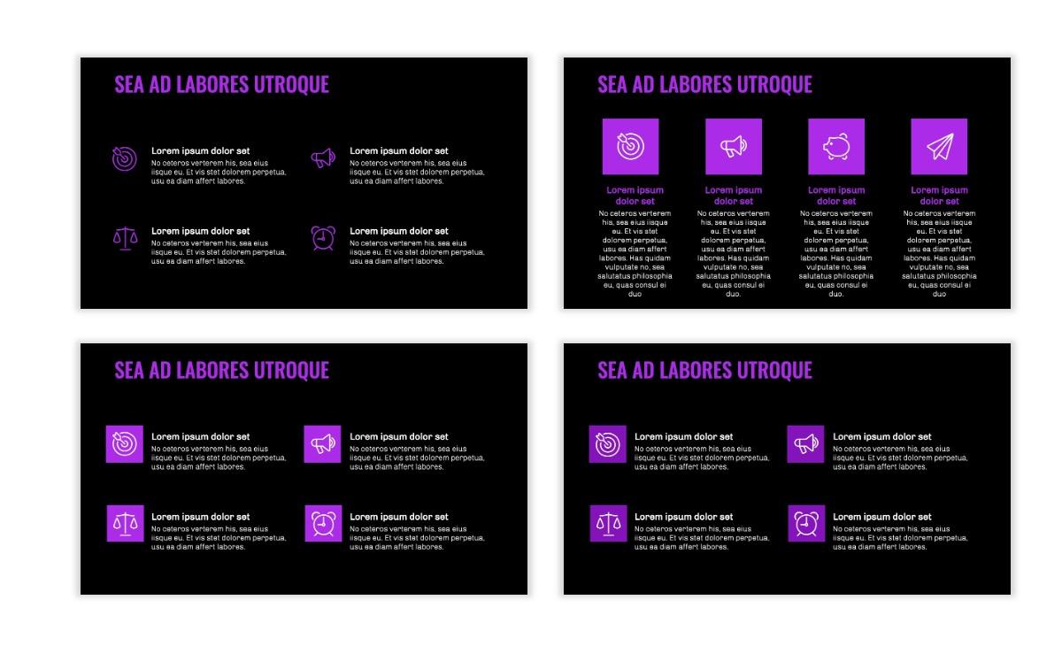 OSLO - Minimal - Dark Purple - Business - Professional - Aesthetic - Clean - Minimal Slide11