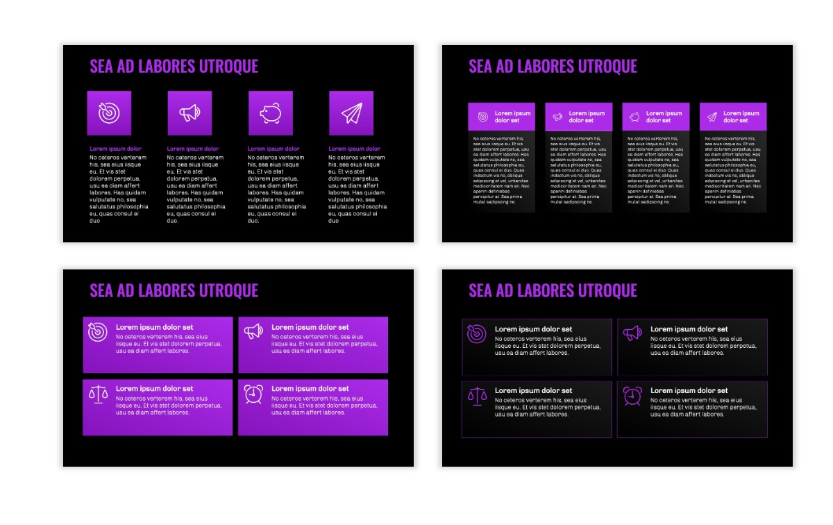 OSLO - Minimal - Dark Purple - Business - Professional - Aesthetic - Clean - Minimal Slide12