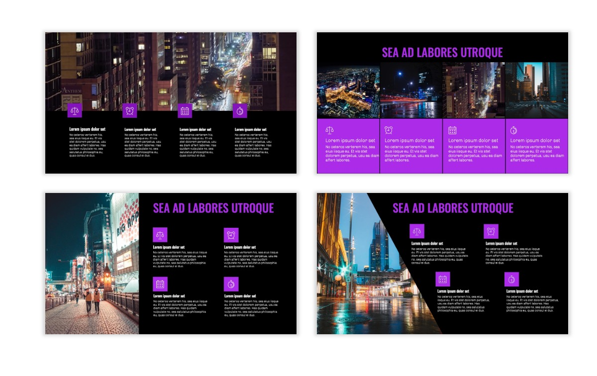 OSLO - Minimal - Dark Purple - Business - Professional - Aesthetic - Clean - Minimal Slide14