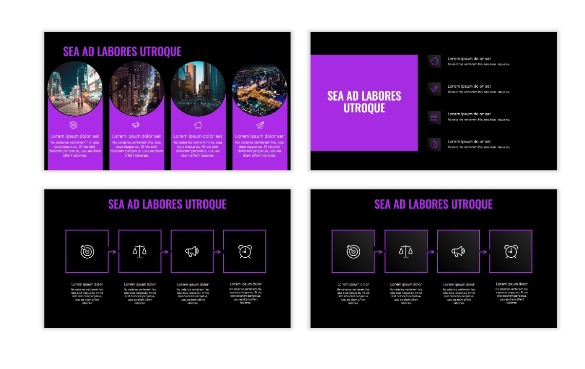 OSLO - Minimal - Dark Purple - Business - Professional - Aesthetic - Clean - Minimal Slide15