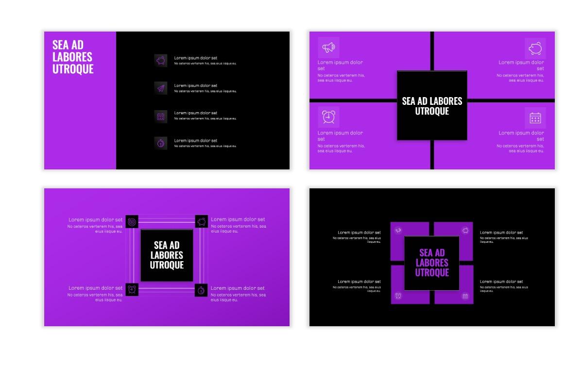 OSLO - Minimal - Dark Purple - Business - Professional - Aesthetic - Clean - Minimal Slide16