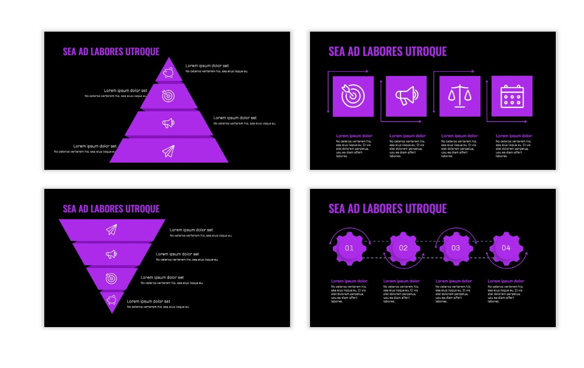 OSLO - Minimal - Dark Purple - Business - Professional - Aesthetic - Clean - Minimal Slide17