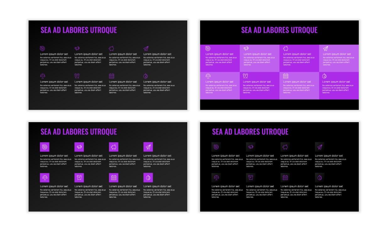 OSLO - Minimal - Dark Purple - Business - Professional - Aesthetic - Clean - Minimal Slide18