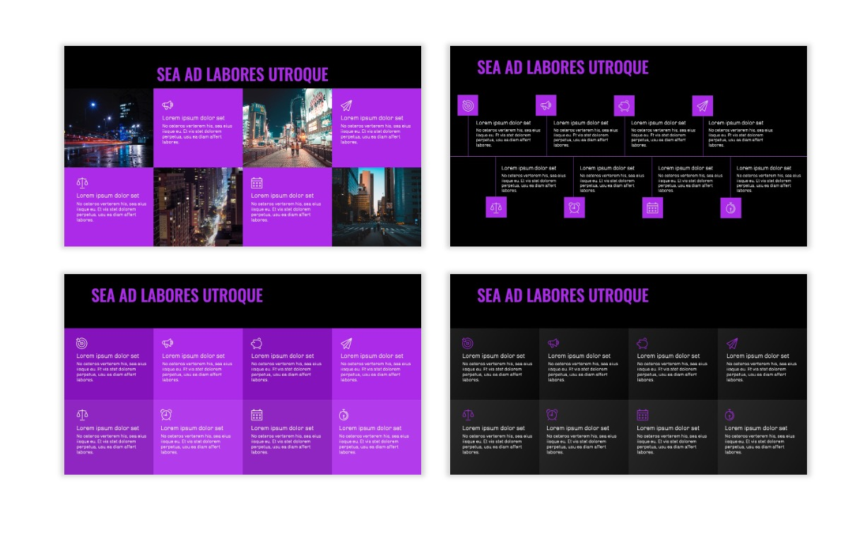 OSLO - Minimal - Dark Purple - Business - Professional - Aesthetic - Clean - Minimal Slide19