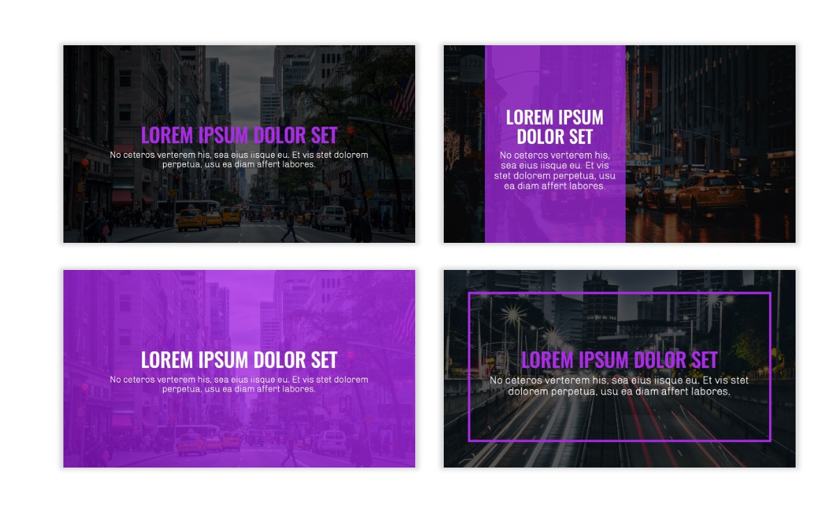 OSLO - Minimal - Dark Purple - Business - Professional - Aesthetic - Clean - Minimal Slide2
