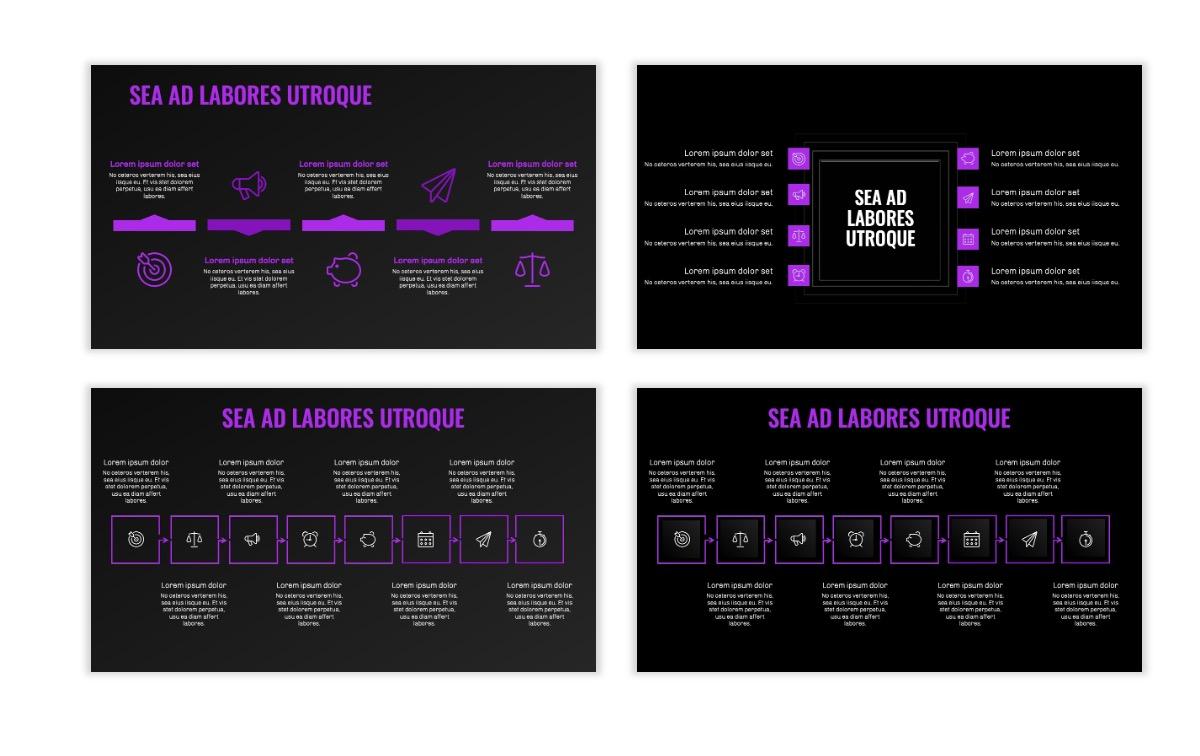 OSLO - Minimal - Dark Purple - Business - Professional - Aesthetic - Clean - Minimal Slide20