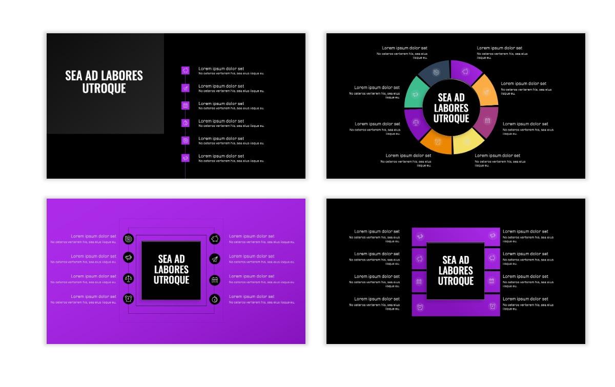 OSLO - Minimal - Dark Purple - Business - Professional - Aesthetic - Clean - Minimal Slide21