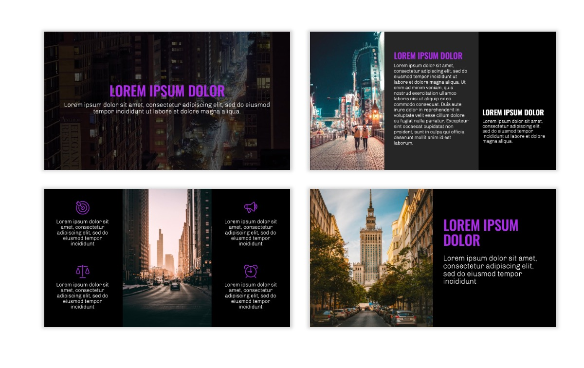 OSLO - Minimal - Dark Purple - Business - Professional - Aesthetic - Clean - Minimal Slide3