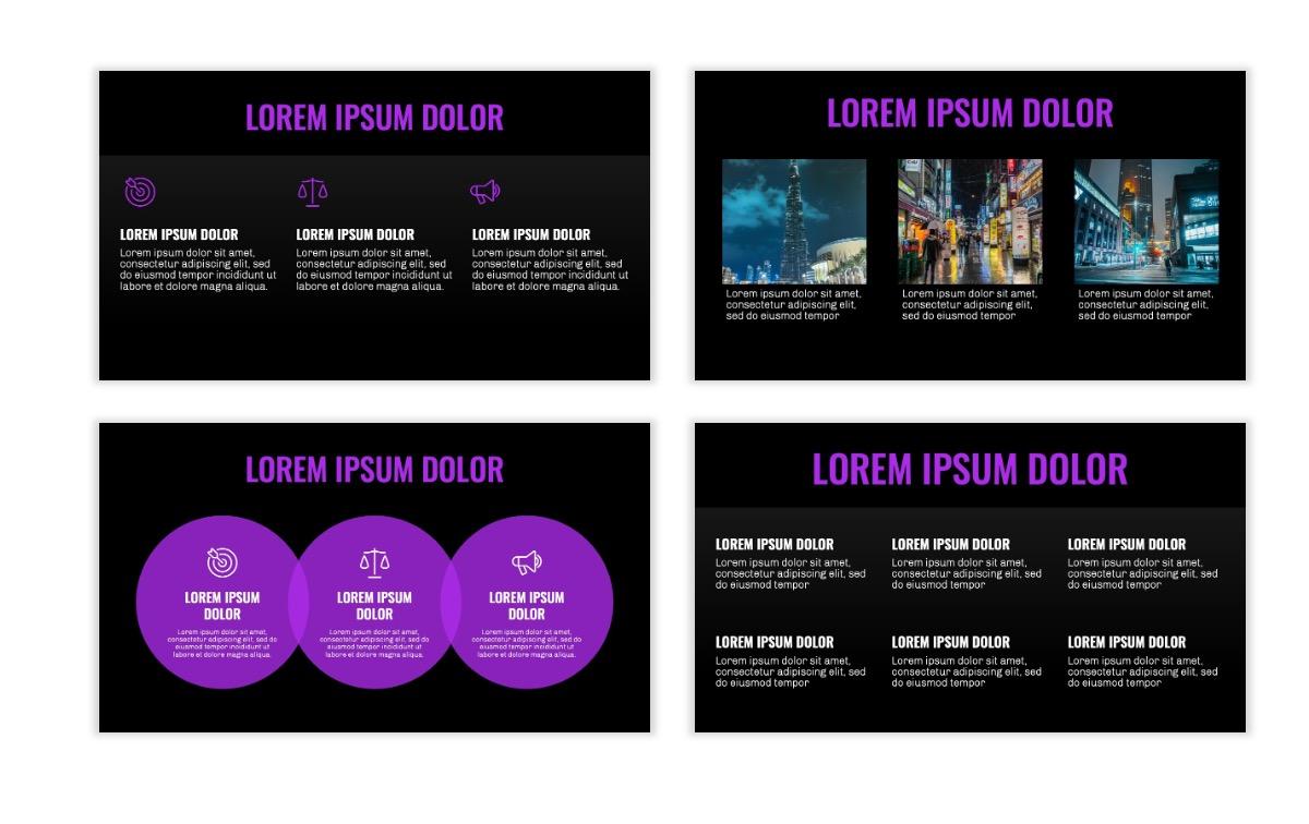 OSLO - Minimal - Dark Purple - Business - Professional - Aesthetic - Clean - Minimal Slide4