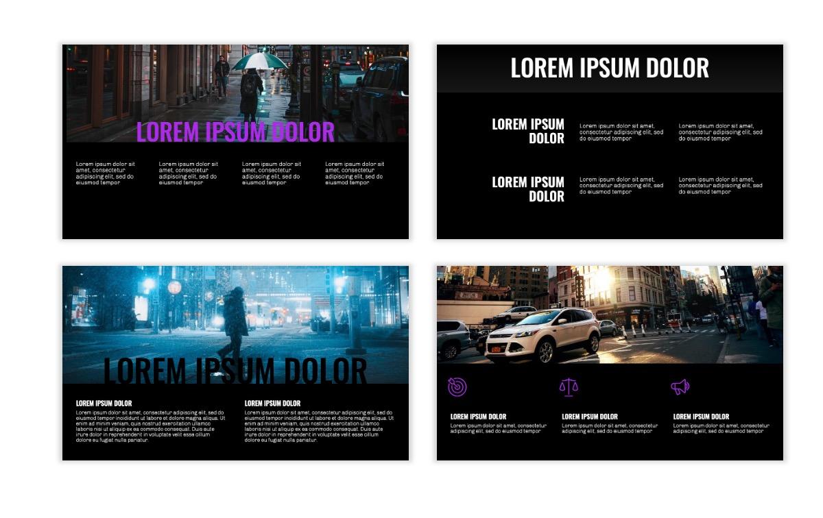 OSLO - Minimal - Dark Purple - Business - Professional - Aesthetic - Clean - Minimal Slide5