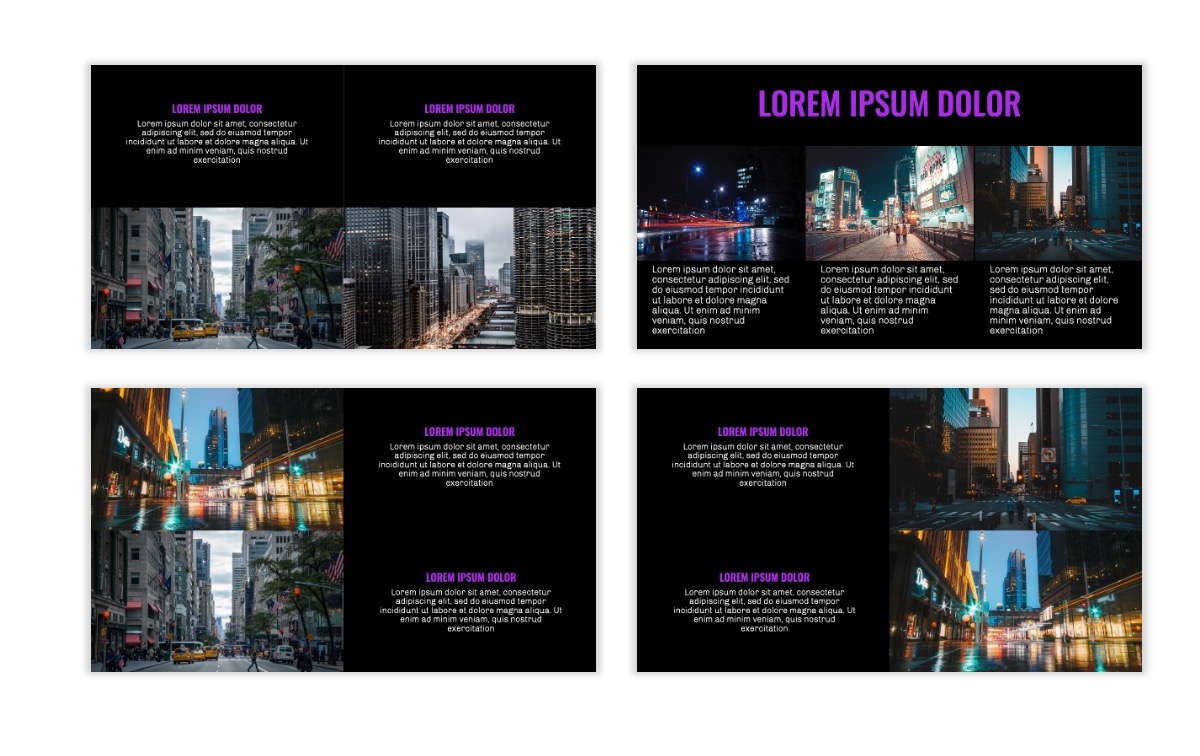 OSLO - Minimal - Dark Purple - Business - Professional - Aesthetic - Clean - Minimal Slide7