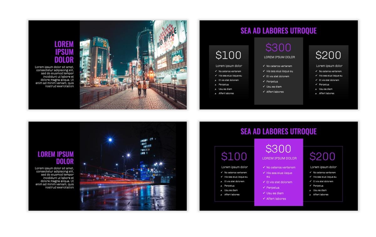 OSLO - Minimal - Dark Purple - Business - Professional - Aesthetic - Clean - Minimal Slide8