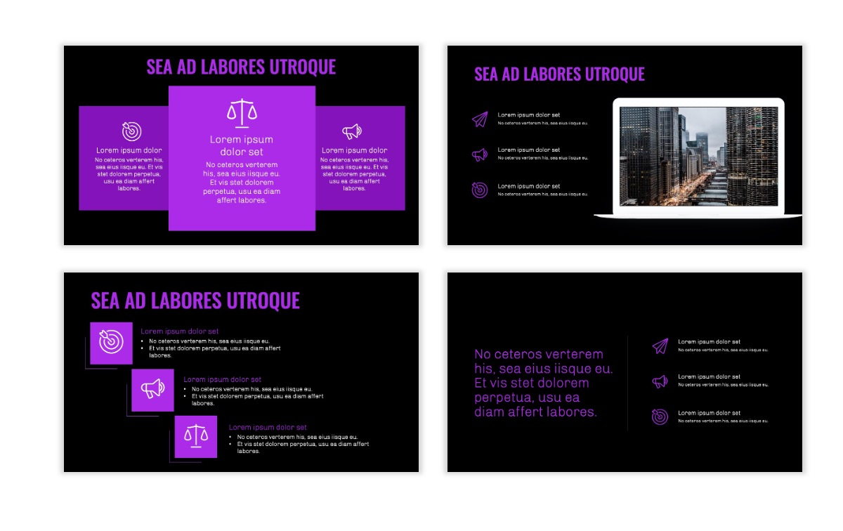 OSLO - Minimal - Dark Purple - Business - Professional - Aesthetic - Clean - Minimal Slide9