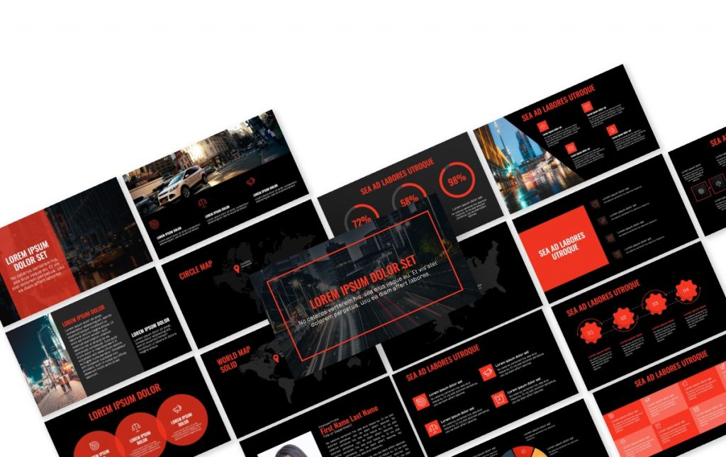 OSLO PROFESSIONAL DARK RED FREE POWERPOINT TEMPLATE